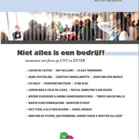 Niet alles is een bedrijf! - Momenten #10 (2012). Momenten met focus op L!NT en ENTER