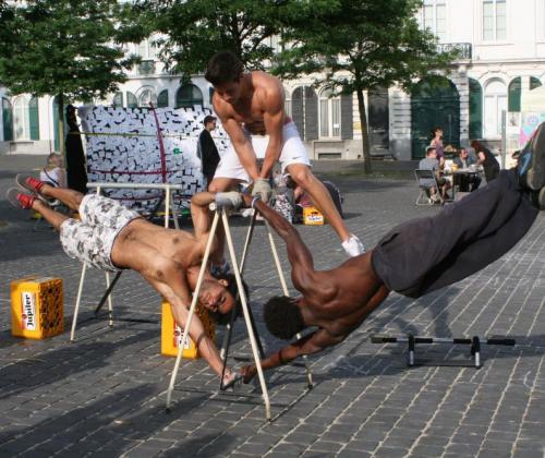 Street workout in Gent - Demos sprak met Desco en Mohamed van 9000 Barz