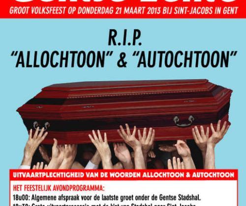 De Gentse Lente 2013 - RIP autochtoon & allochtoon