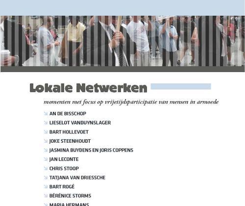 Lokale netwerken - Momenten #7 (2010). Momenten met focus op vrijetijdsparticipatie van mensen in armoede