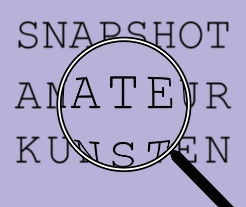 Reflectiemoment 'snapshot amateurkunsten'